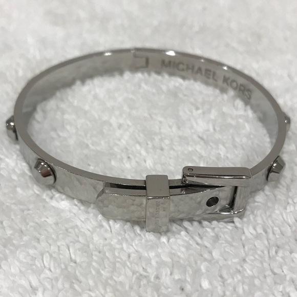 Michael Kors Jewelry Silver Studded Belt Buckle Bracelet Poshmark